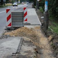 Naprawa chodnika przy ul. Cieszyńskiej