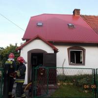 Pożar w domu jednorodzinnym przy ul. Sznelowiec
