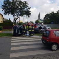 Zderzenie na skrzyżowaniu ulic Słonecznej i Skłodowskiej