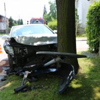 Wypadek na skrzyżowaniu ulic Bratniej i Brylantowej